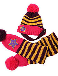 Children's Smiling Star Hat&Scarf(2 Pieces)