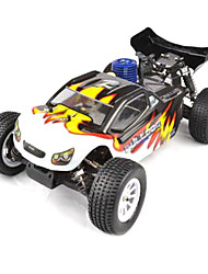 1/10 Escala Short Course Truck Nitro RC Single Speed ​​(Black & White)