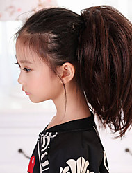 13.77Inch 100% Kanekalon Snythetic Hair Pieces Ponytail for Children