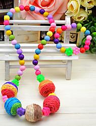 Girl's Cute Ball Jewelry Set (Necklace&Bracelet)(Random Color)