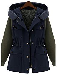 Manteau de Sara-Wei Zipper Hoddie (Bleu)