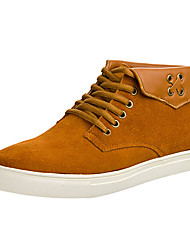 Leather Men's Casual Boots with Split Joint