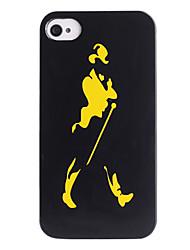 Joyland Gentleman silhuetmønster ABS Tilbage Case for iPhone 4/4S