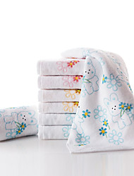Hand Towel Set, 6 Pack Terry 100% Cotton Bunny Print 48cm x 25cm - 3 Colours Included