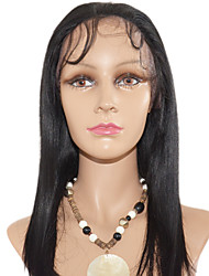 14inch soyeuse droite péruvienne Remy Hair Lace Front Wig