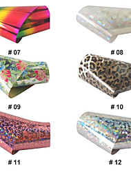 BK Kleurrijke Nail Art Stickers Tips No.07-12