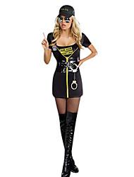 Halloween Costume de SWAT Commander Noir polyester femmes avec des menottes