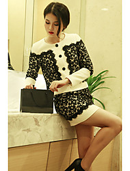 Women'sElegant Joint Lace Suit(Coat&Skirt)