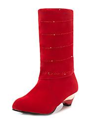 Dames Bruiloft Schoenen Hoge hakken Laarzen Huwelijk Rood