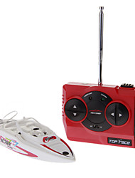High-Power Mini RC Racing Boat (White)