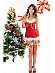 Women's Christmas Halter Dress