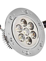 7W 7xHigh Мощность 665LM 6200K холодный белый свет светодиодные утопленный вниз свет - Серебряная гарантия (85-265В)