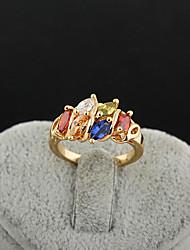 Yueli Frauen-18K Gold Zirkon Ring J0490
