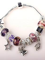 paarse kralen armband voor vrouwen europese stijl handgemaakte kralen armbanden
