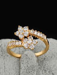 Yueli Frauen-18K Gold Zirkon Ring J1209