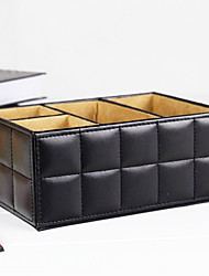 Caixa de armazenamento de couro criativo para Controlador de TV - 2 Cores Avaliable