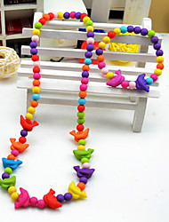 Девушки дельфины комплект ювелирных изделий (ожерелье и браслет) (случайный цвет)