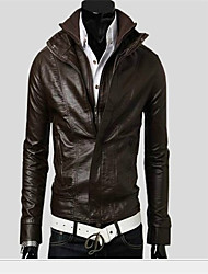 OTTF Fashion Stand Collar Double Zipper Jacket