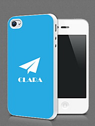 Personalized Paper Plane Design Protection Shell for iPhone 4S / 4