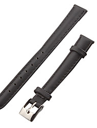 Donna 12 millimetri Leather Watch Band (nero)