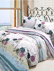 Beisibei 4Pcs Cover Set:Duvet Cover,Coverlet,Pillowcase*2_084