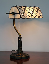 Antique Tiffany Glass Table Lights with Octagon Pattern Shade
