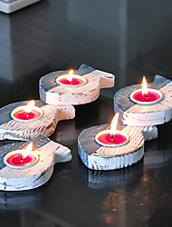 "19 ""H style méditerranéen poissons de type Set Candle Holder (5 PCS)"