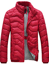 Outdoor Men's Tops / Winter Jacket Leisure Sports / Snowsports Wearable / Windproof / Thermal / Warm Winter Green / Black / Blue / Fuchsia