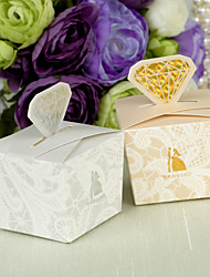 12 Piece/Set Favor Holder - Cuboid Card Paper/Pearl Paper Favor Boxes Diamond Style