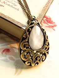MISS U Frauen Bronze Vintage-Wasser-Tropfen Freis Carving Halskette