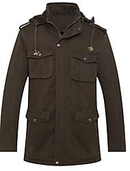 Men's Long Sleeve Down & Parka/Coat , Cotton Pure