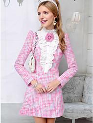 Pink Doll Falbala mini vestido de lana