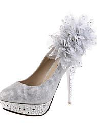 De las mujeres del ante de la boda de tacón de aguja Tacones Zapatos de la plataforma (más colores)