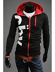 Vans Hombre Escudo de impresión con capucha Personal (Negro)