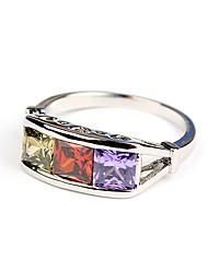 ME Tre colori zircone anello (TJ00248)