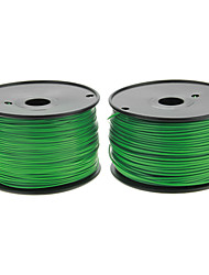 Reprapper 3D Printer Consumables Christmas Green Normal Color (Optional Wire Diameter and Material) 1 Piece