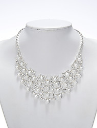 Rich Long Women's Pearl White Necklace With Earring  Suit