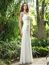 Lanting Bride® A-line Petite / Plus Sizes Wedding Dress - Chic & Modern / Reception Floor-length Square Georgette with