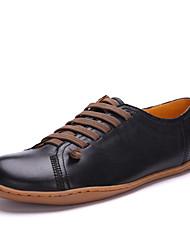 Simul première couche de peau de mouton Mode agriculteurs Casual Chaussures (Noir)
