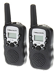 T388 2pcs/pair contiene dos Walkie Talkies Negro