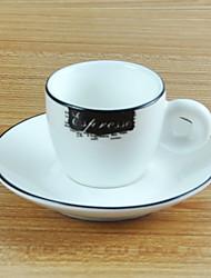 Elegant Espresso Coffee Mug, Porcelain 3oz