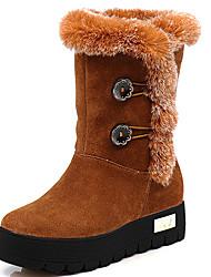 AOLUN Classic Rabbit Fur Snow Boots(Brown)