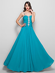 Prom / Formal Evening / Military Ball Dress - Open Back Plus Size / Petite Sheath / Column Spaghetti Straps Floor-length Chiffon with