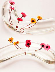 Table Centerpieces Banana Shaped Three Hole Glass Vase  Table Deocrations