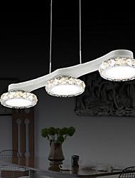 lampes suspendues dirigées, 3 lumières, en métal chromé artistique