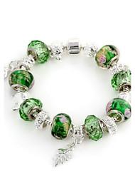 Verde cristal Strand Pulseira de 6,3 centímetros doces Mulheres (1 Pc)