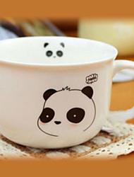 Smiley Panda Coffee Mug,Porcelain 8oz