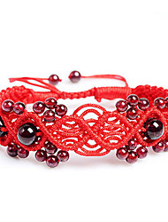 Red Bracelet chaîne SM main grenat naturel