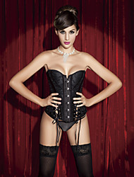 Jacquard et satin devant Busk fermeture Plastique Baleine corset shapewear