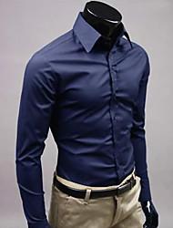 Bleu royal Loisirs shirt manches longues de A & W Hommes